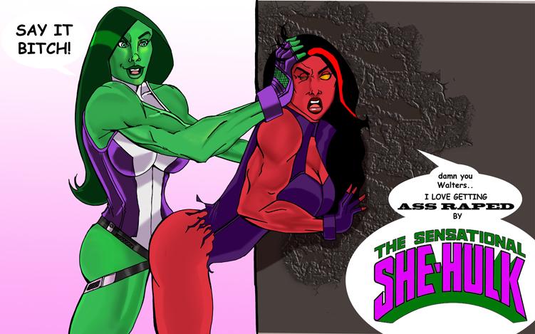 vs hulk red she hulk Steven universe peridot and steven
