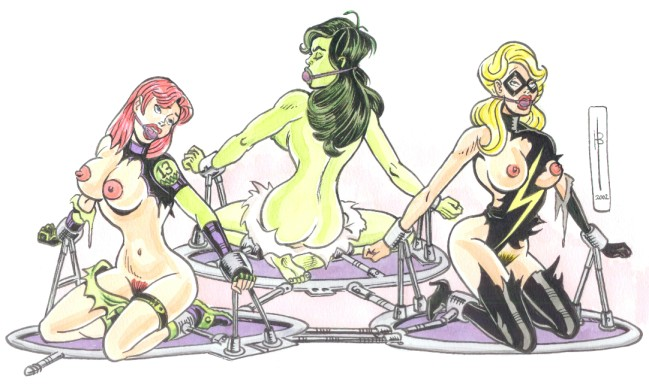 hulk she vs red hulk Brief and chuck with garterbelt