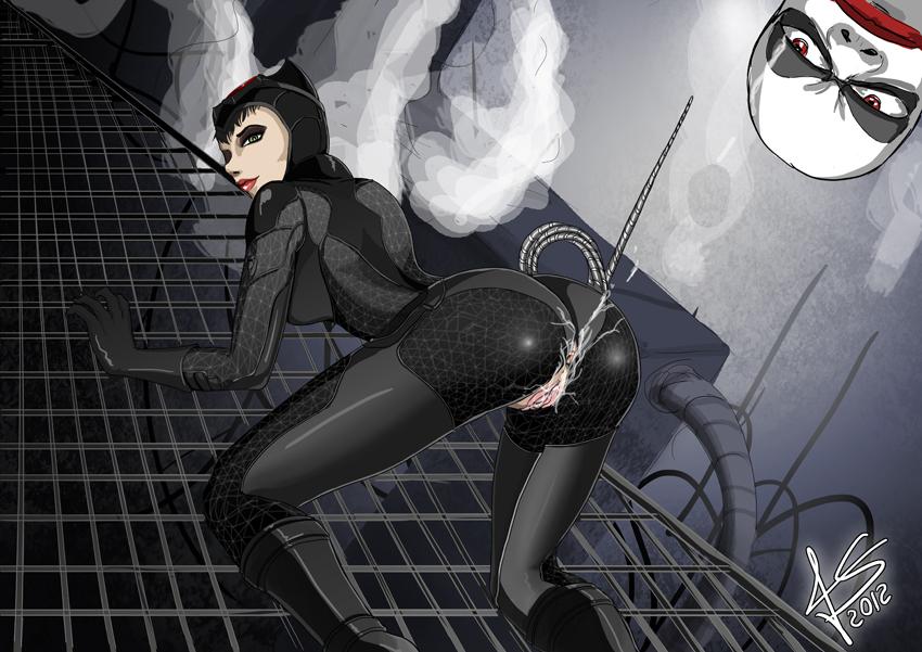 batman arkham porn city catwoman Dr michel mass effect 3