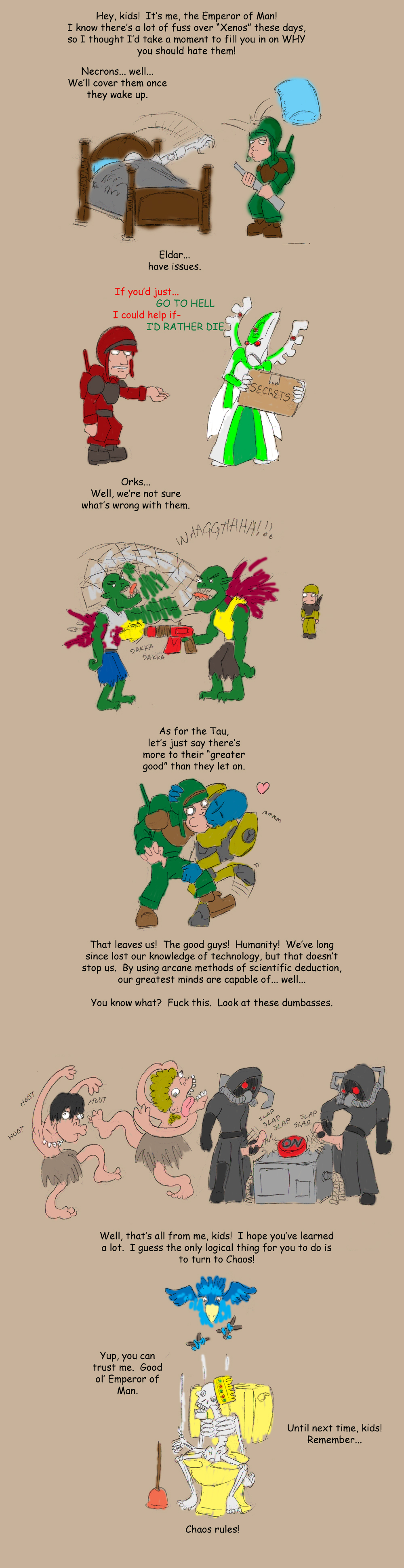 40k slaanesh warhammer chaos god Marvel ultimate alliance 3 hela
