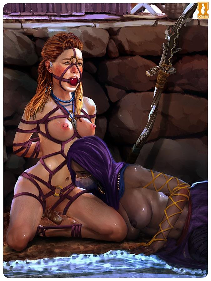 nude aloy dawn horizon zero Attack on titan girl characters