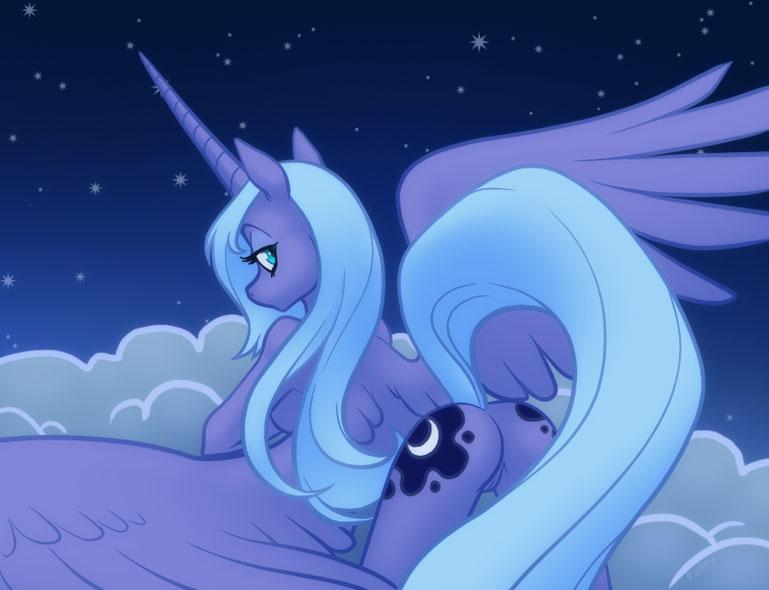 princesa little luna pony my For honor black prior fanart